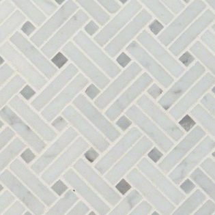 Carrara White Basketweave
