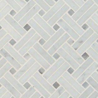 Carrara White Basketweave