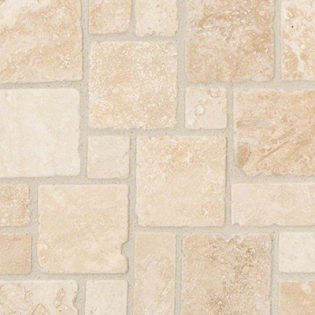 Ivory Travertine Mini Versailles Pattern